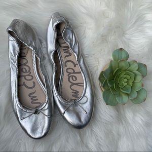 Sam Edelman Silver Ballet Flats Sz 10